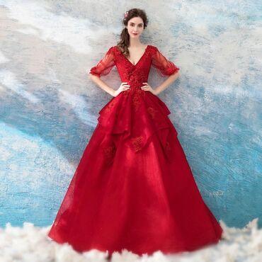 вышивка бишкек in Кыргызстан | ДРУГОЙ ДОМАШНИЙ ДЕКОР: Новое пышное платье яркого сочного красного цвета .Размер S подойдёт
