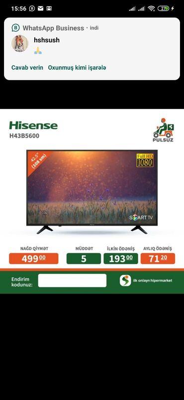 Kredie 108 ekran smart tv satilir etrafli whatsappa yazib sifariside