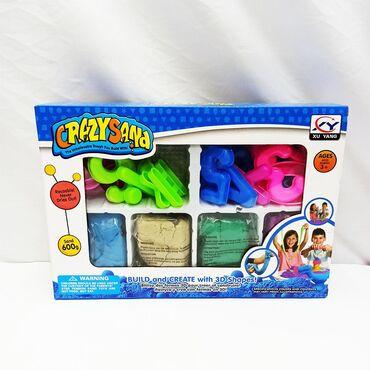 Кинетический песок Crazy Sand - потрясный комплект из 4 цветов с