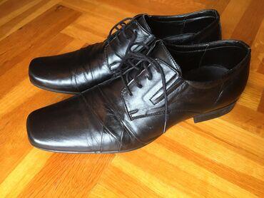 Muške kožne cipele broj 44.Dva puta nošene,kao nove što se i vidi na