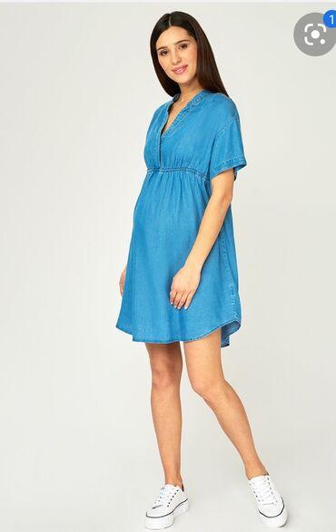 Женская одежда - Беш-Кюнгей: Платья туника можно и для беременных материал хб легкая размер 42-44 н