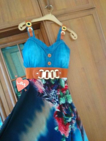 платье из вискозы на лето в Кыргызстан: Продаю необычная платье на лето, очень удобная, носила только один