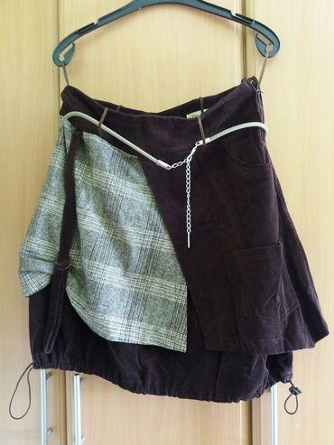Suknja duzina - Srbija: Somotska suknja Gina Bella vel.42 ili XL  Suknja za jesen/zimu.  Veoma
