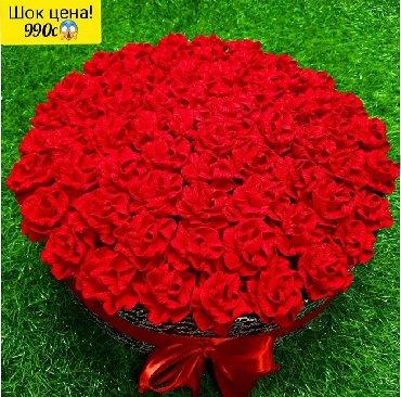 сладкие новогодние подарки в Кыргызстан: Букет цветы Для все, кто искренне хочет удивить и порадовать подарком