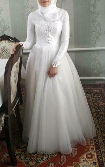 свадебное платье футляр в Кыргызстан: Продаю свадебное платье! Размер 42-46(регулируется на корсете)снизу