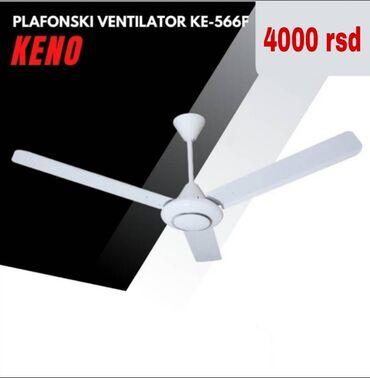Elektronika - Srbija: PLAFONSKI VENTILATOR KE-566fKarakteristike:Snaga: 85WNapon