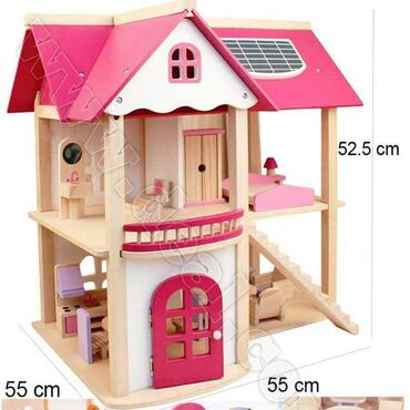 Taxta Oyuncaq Ev ( Wooden Doll House)➙ Qiyməti: 120 Azn➙ Çatdırılma