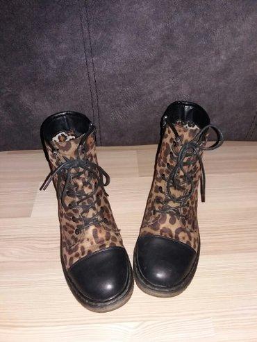 SNIŽENO! Crne čizme sa tigrastim printom, kao nove.. broj 38 i 40. - Nis
