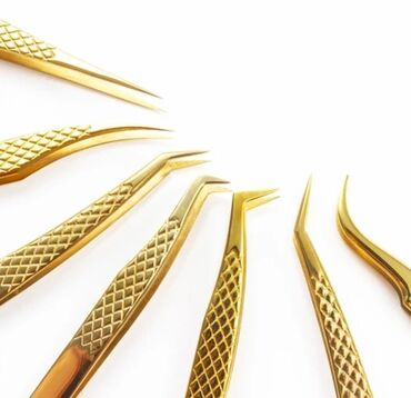лада веста цена в бишкеке в Кыргызстан: Пинцеты для наращивание ресниц Up line Gold