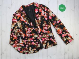 Пиджак женский в цветочный принт MNG, M   Бренд: MNG Цвет: черный с цв