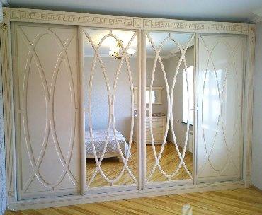 шкафы купе мебель в Кыргызстан: Мебель на заказ Даже большой шкаф в комнате может выглядеть не таким