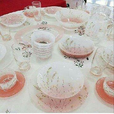 luminarc наборы посуды в Азербайджан: Serviz, Fransa, komplekte hamisinnan 6 ededti, tezedir, cox gozel