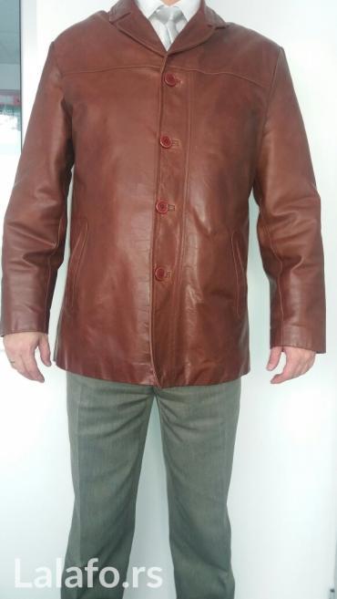Muška kozna jakna malo nošena, dobro očuvana - Vranje