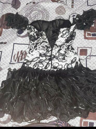 русалка в Кыргызстан: Чёрное платье ручной работы размер 44-48 . Синие с камнями вечерние 4