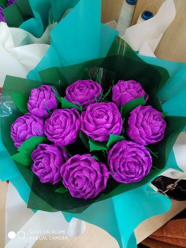 Прекрасные цветы для прекрасных дам. Цветы из гофра бумаги
