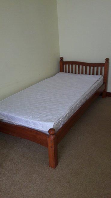 Односпальная кровать вместе с матрацем (sonel). Производство Малайзия, в Бишкек