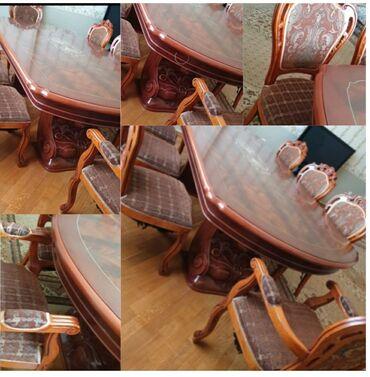 Malaziya istehsali stol stul desti satilir.stul 8 ededdir.ikisi kreslo