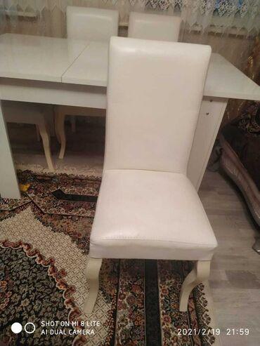 Kafe ucun stol stul satilir - Азербайджан: Stol stul dəsti satılır.stol yığılıb açılandır