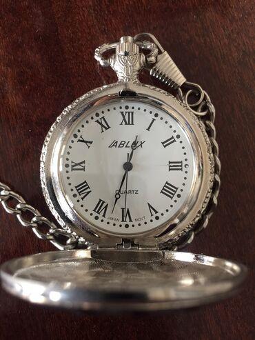 Cib saatı gümüşü rəngdə. Əla vəziyyətdə, batareyası yoxdur. Qiymət