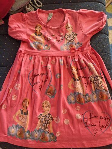 Decije haljine - Krusevac: Pamučna haljinica za devojčice sa motivima Frozen.Proizvodjac je Kids