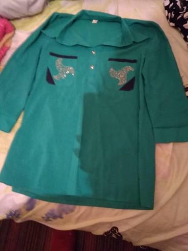 Женская одежда в Каинды: Рубашка, одевали один раз 46 размер. 100 сом или обмен на литр масла