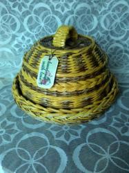 Аксессуары для кухни - Кыргызстан: Хлебница плетеная из бумажной лозы, ручной работы. на заказ