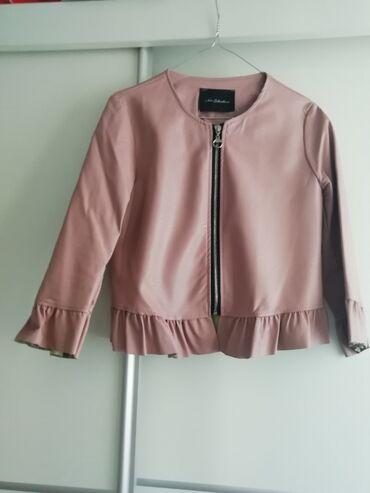 Decija jaknica ga - Srbija: Svetlo roze jaknica-blejzer od eko kože,M veličina. Nije nošen,potpuno