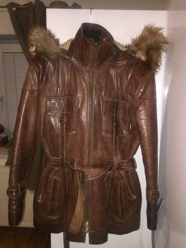 Kozna jakna sa krznom(lisica) Nosena 10-ak puta - Stara Pazova
