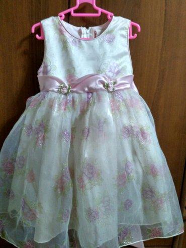 Нарядное платье на принцессу 4 лет, в отл. состоянии. Одевали 2 раза. в Бишкек