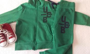 Benetton φούτερ φόρμες με φερμουαρ χωρίς κουκούλα φορεμενες ελάχιστα