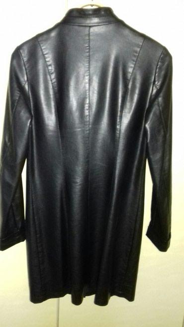 Кожаный сюртук, черного цвета, деми. в Ош