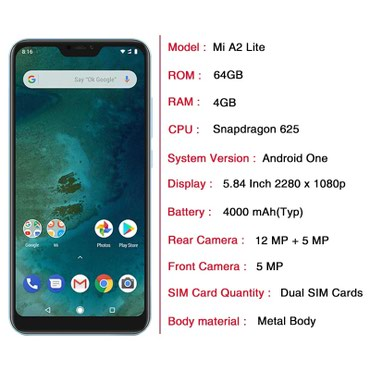 Xiaomi Mi A2 lite 4/64GB, Black в Bakı