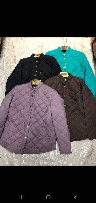 куртки для новорожденных в Кыргызстан: Женские куртки весна большие размеры  Ткань: плащевка Размеры:50-56