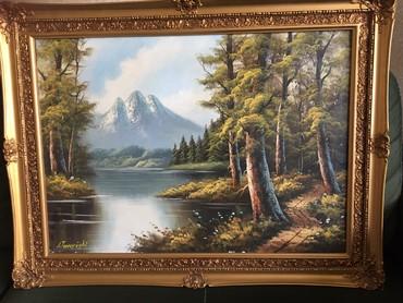 Пейзаж. Картина Иранского художника. 83*63 см вместе с рамой