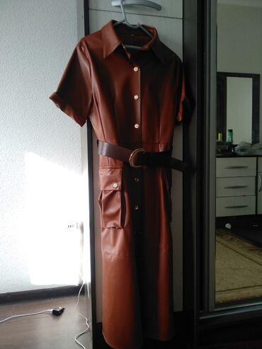 платья рубашки оверсайз в Кыргызстан: Платье Деловое Zara S