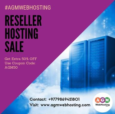 Nepal's best Reseller Hosting Service Provider Company - AGM Web in Kathmandu