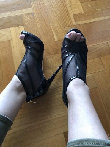 Lakovana koža, sandale bukvalno obuvene jednom. 40broj.  - Knic - slika 2