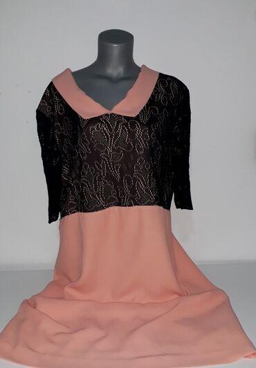 Preko grudi - Srbija: Elegantna haljina vel XXL Dimenzije:širina ledja 55 cm, od pazuha do