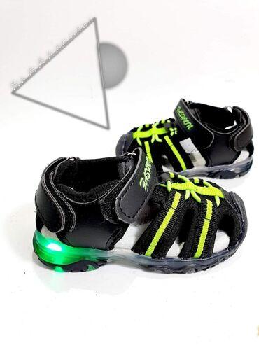 SNIZENJE Odlicne sportske svetlece sandalice sa koznim anatomskim