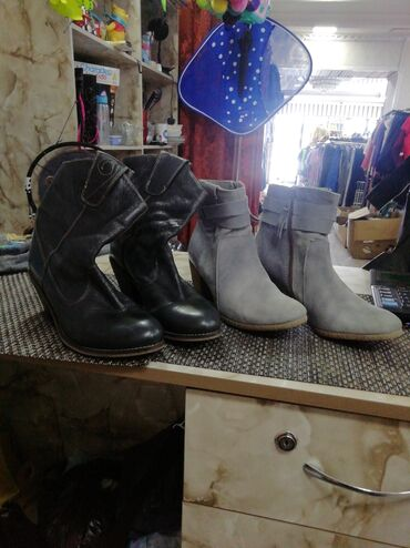 Женская обувь в Бишкек: Женские сапожки 38р магазин Ирландия секонд хенд. Адрес Алма-Атинская