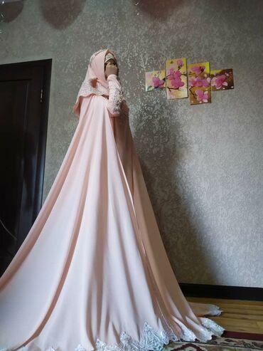 Мусульманское свадебное платья на никахс красивыми бусинками