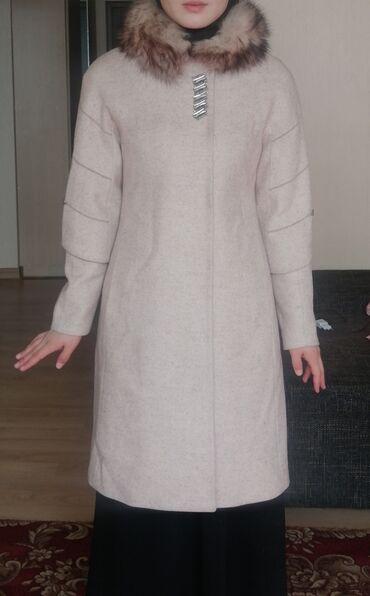 женская пальто в Кыргызстан: Срочно!!! Продаю новое Турецкое женское пальто, с натуральным мехом, м