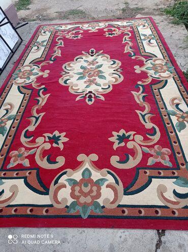 Турецкий Ковёр с размером 5,0х3,0 красного цвета с узорами