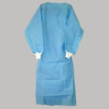 медицинские одноразовые халаты в Кыргызстан: Медицинский одноразовый халат Только оптом  Медицинские хирургические