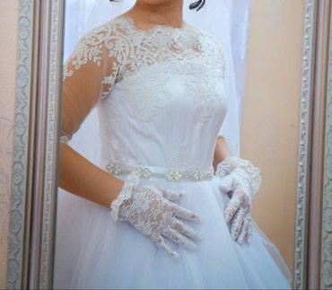 СРОЧНО ПРОДАМ !!! Нежное свадебное платье. Белого цвета. 44-46 размер