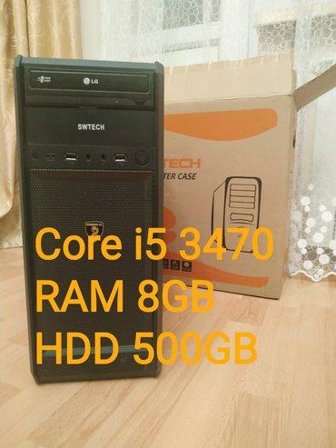 Sistem Bloku Core i5 3470 / 8GB RAM / 500GB HDD Plata ASROCK H61