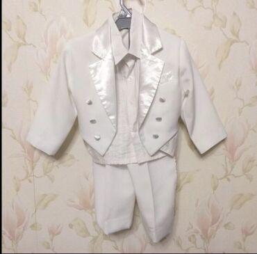 Белый смокинг на годик,одели один раз