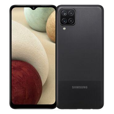 Samsung Galaxy A12   64 GB   qara   Barmaq izi, Face ID, Sənədlərlə