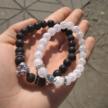 Парные браслеты из натурального камня 200 сом каждый в Лебединовка