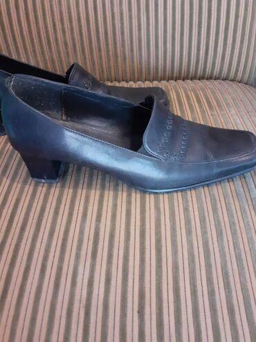 Kozne crne cipele.Visina st.3cm.Jako udobne